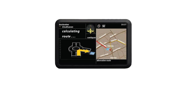 interface design on a gps navigation device