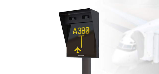 airport traffic sign post